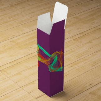 着色された流れのワイン用化粧箱 ワインギフトボックス