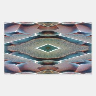 着色された火星の砂丘 長方形シール
