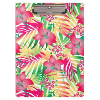 着色された熱帯花 クリップボード