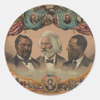着色された競争1881年のFrederickの英雄Douglass ラウンドシール