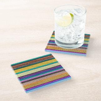 着色された編み物のストライプ継ぎ目が無いパターン1 ガラスコースター