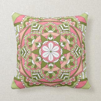 着色された花の曼荼羅061117_1 クッション