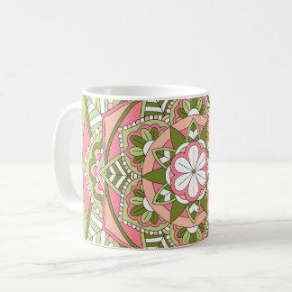 着色された花の曼荼羅061117_1 コーヒーマグカップ