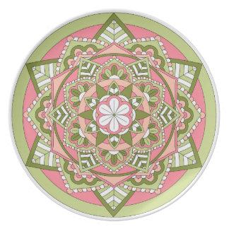 着色された花の曼荼羅061117_1 プレート