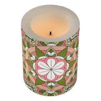 着色された花の曼荼羅061117_1 LEDキャンドル