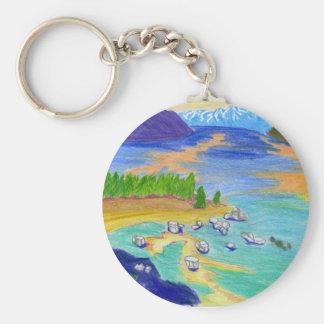 着色された鉛筆のタホ湖 キーホルダー