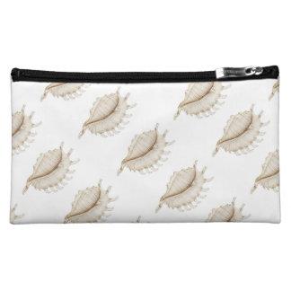 着色された鉛筆の化粧品のバッグのくものコンシュの貝 コスメティックバッグ