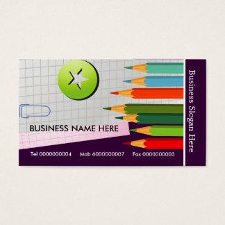 着色された鉛筆の名刺 名刺