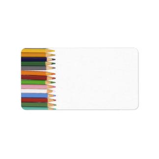 着色された鉛筆の宛名ラベル ラベル