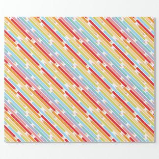 着色された鉛筆の美術教師の感謝 ラッピングペーパー