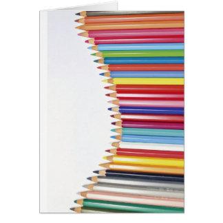 着色された鉛筆 カード