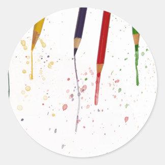 着色された鉛筆 ラウンドシール