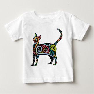 着色されたCAT ベビーTシャツ