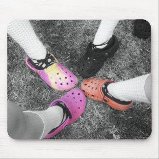 着色されたCrocs及び柔らかい靴のマウスパッド マウスパッド
