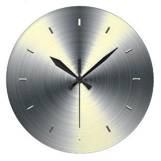 着色されるクリーム色の調子 ラージ壁時計