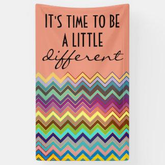 着色されるジグザグパターン- + あなたのアイディア 横断幕