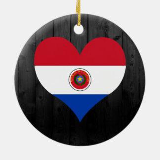 着色されるパラグアイの旗 セラミックオーナメント
