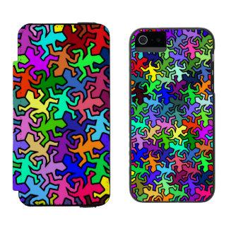 着色されるモザイクヤモリパターン- INCIPIO WATSON™ iPhone 5 ウォレット ケース