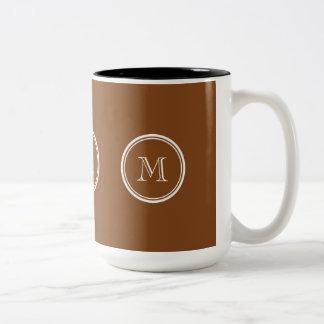 着色される名前入りなあずき色の上限 ツートーンマグカップ