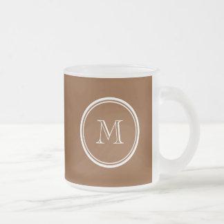 着色される名前入りなあずき色の上限 フロストグラスマグカップ