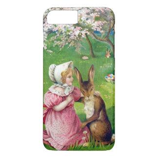 着色される女の子のイースターのウサギはミズキに卵を投げつけます iPhone 8 PLUS/7 PLUSケース