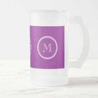 着色される家長の紫色の上限 フロストグラスビールジョッキ
