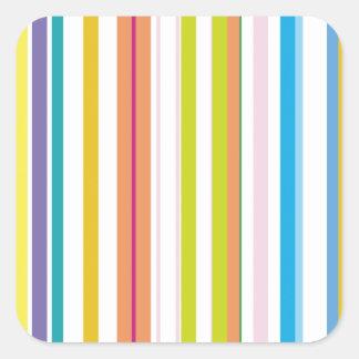 着色される数々の縞で飾ります スクエアシール