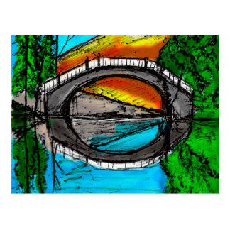 着色される橋反射のマーカー#2 ポストカード