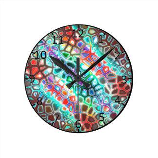 着色される熱狂するなカーニバル ラウンド壁時計