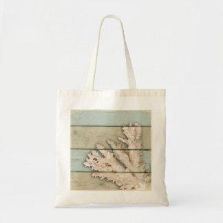 着色される珊瑚クリーム トートバッグ