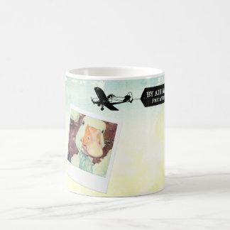 着色される米国の航空便のガチョウタン コーヒーマグカップ