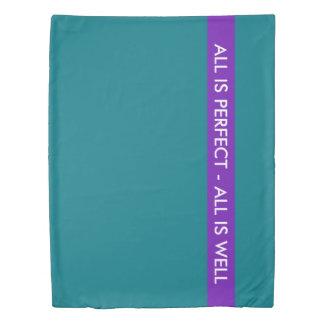 着色される縞で飾ります + あなたの色および文字 掛け布団カバー