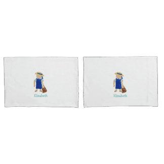着色される習慣によって示されるSchool Girlの幼児水 枕カバー