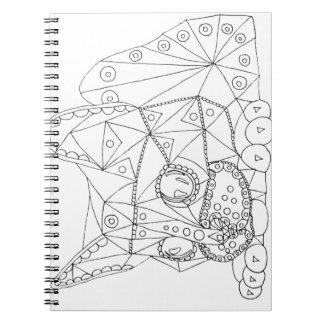 着色のためのColorable猫のスケッチ ノートブック