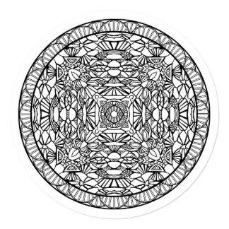 着色の曼荼羅の芸術5.25 x 5.25の招待状の円 カード