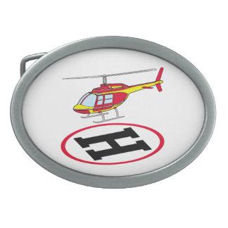 着陸のヘリコプター 卵形バックル