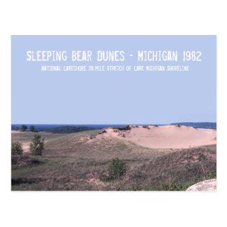 睡眠くま砂丘ミシガン州 ポストカード