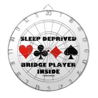 睡眠によって奪い取られるブリッジ・プレーヤーの内部(カードスーツ) ダーツボード
