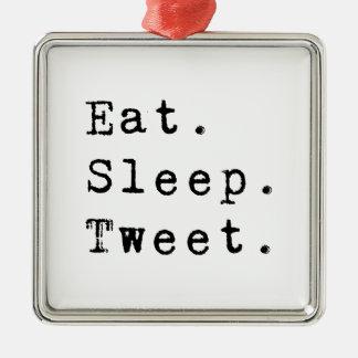 睡眠のさえずりを食べて下さい メタルオーナメント