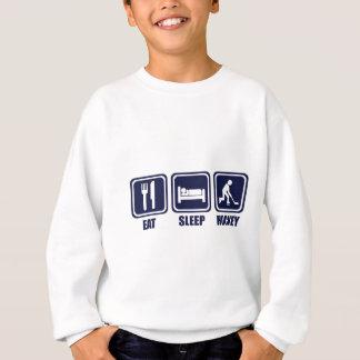 睡眠のアイスホッケーの繰り返しのTシャツを食べて下さい スウェットシャツ