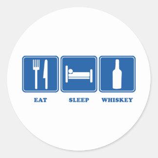 睡眠のウィスキーを食べて下さい ラウンドシール