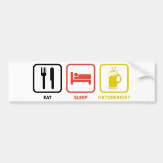 睡眠のオクトーバーフェストを食べて下さい バンパーステッカー