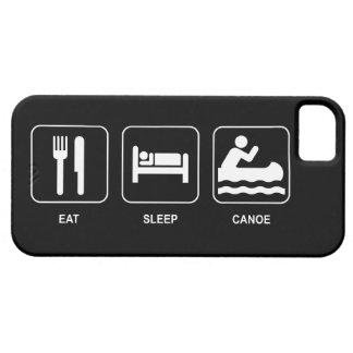 睡眠のカヌーを食べて下さい iPhone SE/5/5s ケース