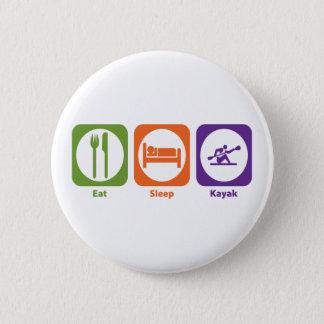 睡眠のカヤックを食べて下さい 5.7CM 丸型バッジ