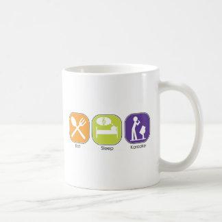 睡眠のカラオケを食べて下さい コーヒーマグカップ