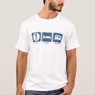 睡眠のキャラバンを食べて下さい Tシャツ