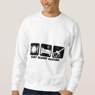 睡眠のギターを食べて下さい スウェットシャツ