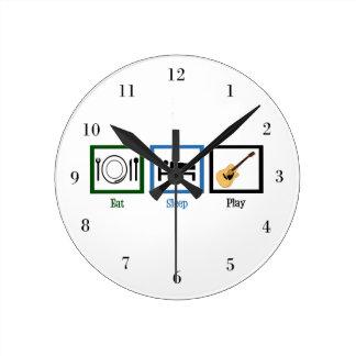 睡眠のギターを食べて下さい ラウンド壁時計