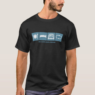 睡眠のクラシックな小型繰り返しのTシャツを食べて下さい Tシャツ