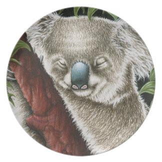 睡眠のコアラのプレート プレート